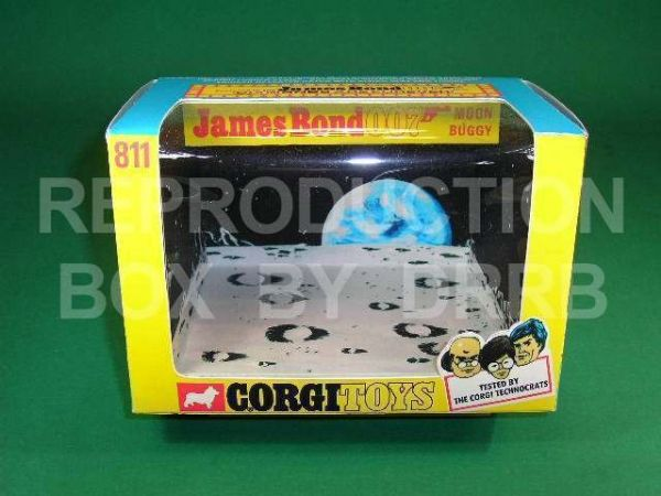Corgi #811 James Bond Moon Buggy - Reproduction Box